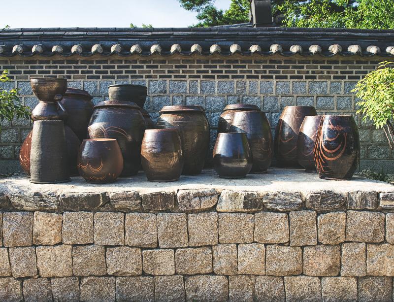Jarres de fermentations coréennes en grès (onggis)