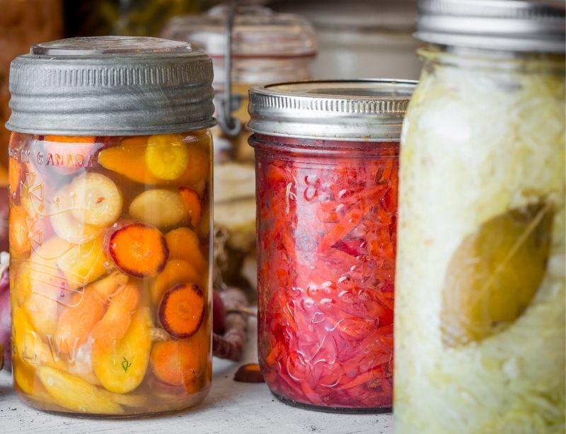 Bocaux legumes saison des recoltes