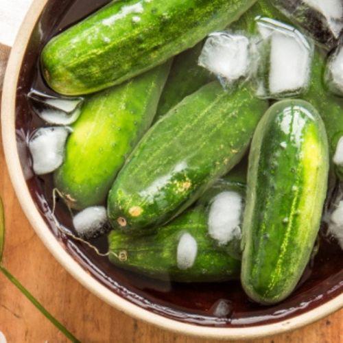 recette pickles concombre et glace