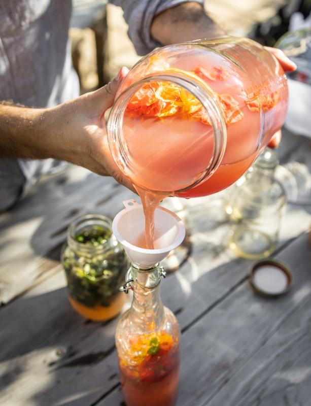 Kombucha aromatisé mis en bouteille
